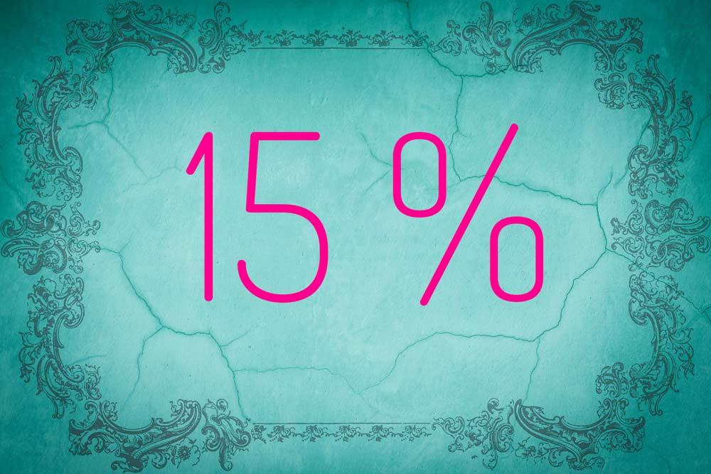 Zahl des Monats August: 15 Prozent